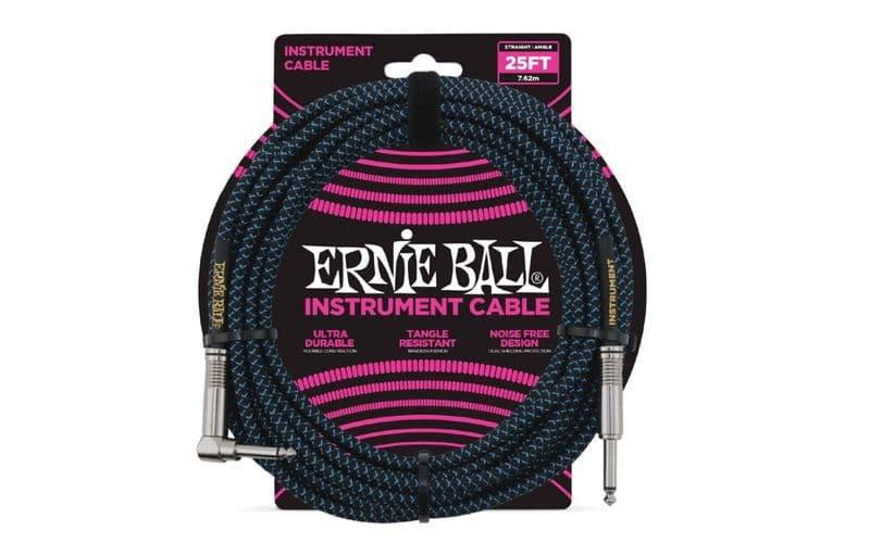 Ernie Ball JACK-JACK SA NEGRO/AZUL - 7,62M