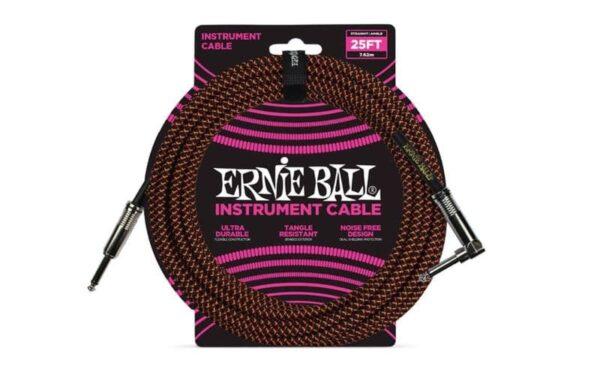 Ernie Ball JACK-JACK SA NEGRO/NARANJA - 7,62M