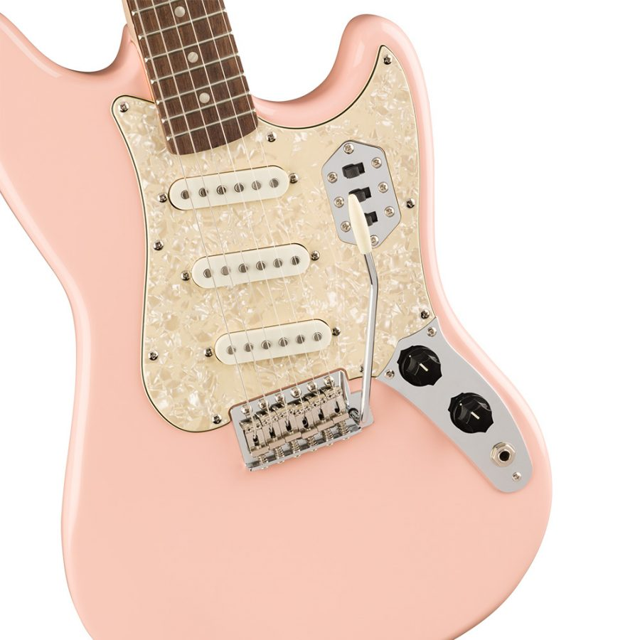 guitarra electrica fender paranormal cyclone shell pink